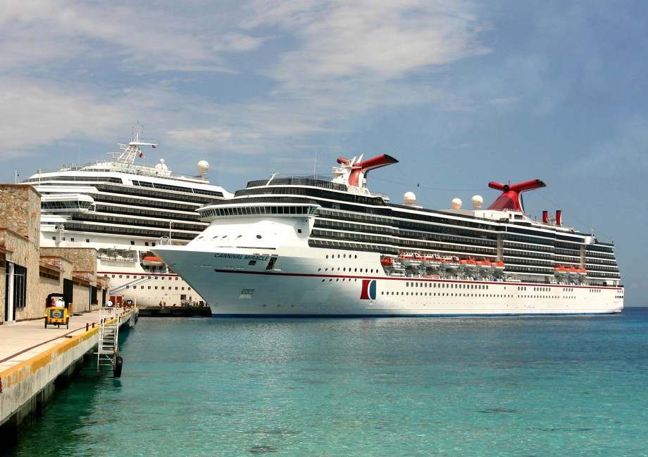 Carnival Miracle and Carnival Triumph Cozumel