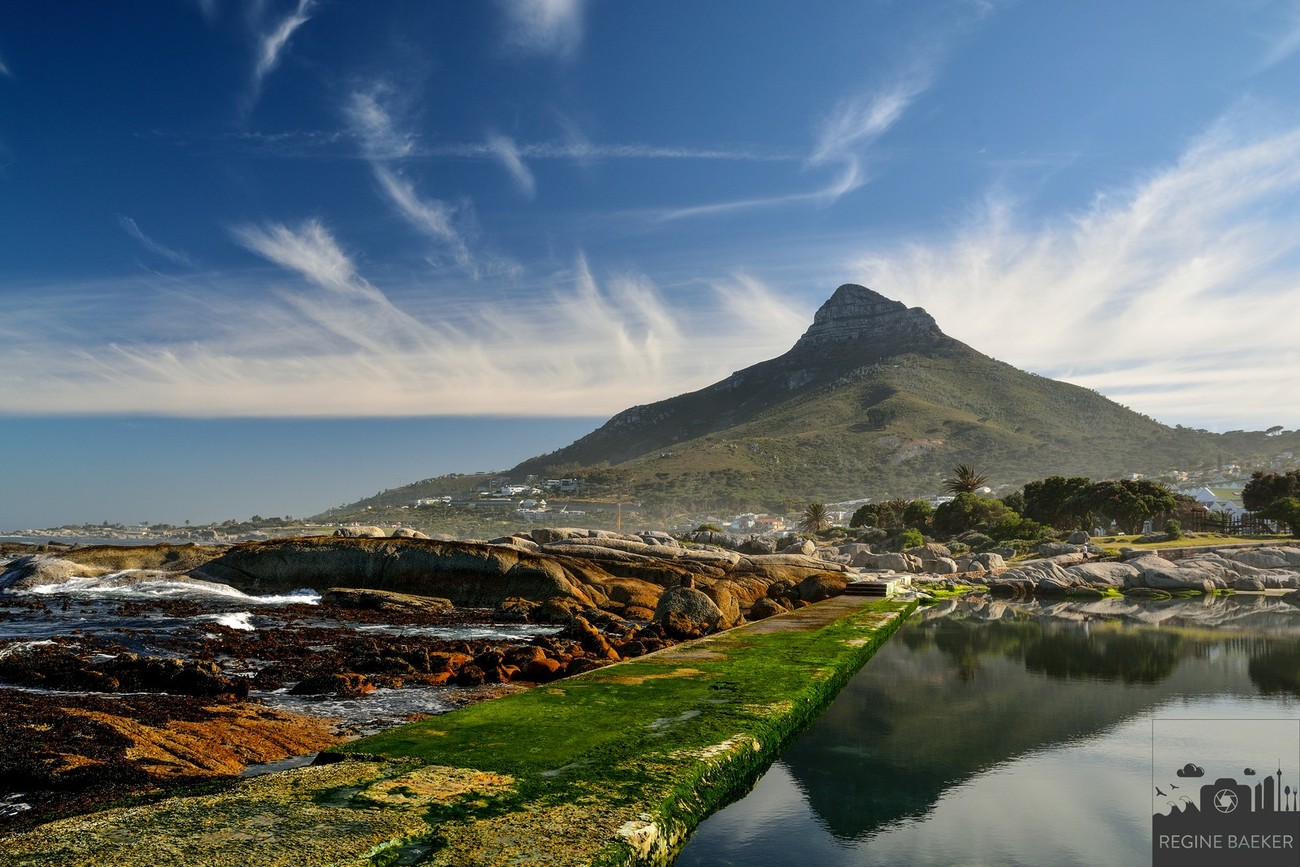 Every morning I went to the beach from Camps Bay-and every morning during my trip to Cape Town,the view was different, especial the sky and the  clouds