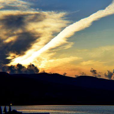 Storm brewing at Alykanas Sunset.