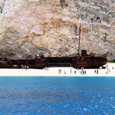 Shipwreck Cove in Zakynthos.