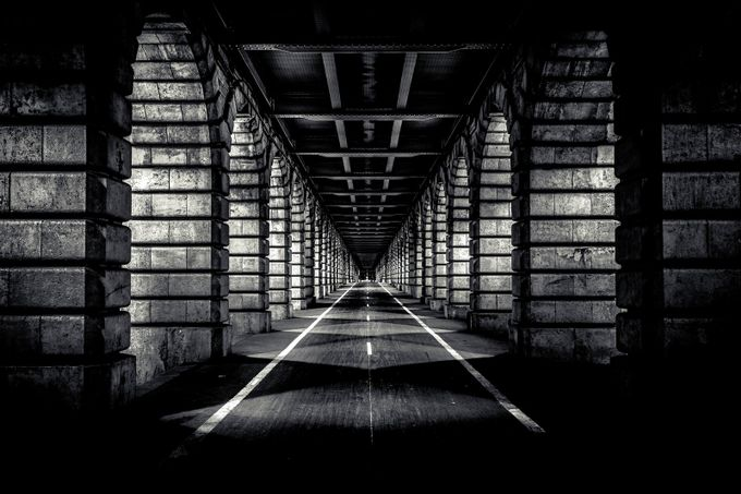 Under the bridge ... by FredericMONIN - Composing with Diagonals Photo Contest