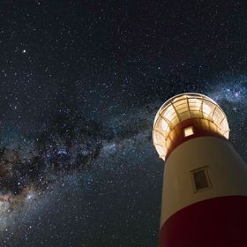 A slightly different composition to the usual lighthouse milky way shot.  I have recently re-edited this particular image.  If you like this shot...