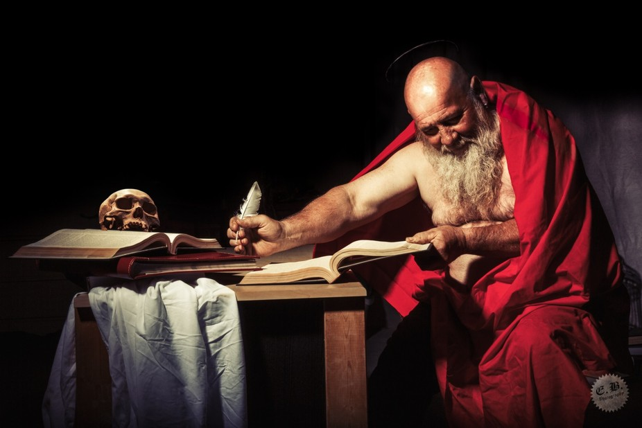 Saint Jerome Writing ,a photographic rendition