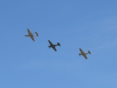 DH-115 Vampire T.35, Curtiss P40 Kittyhawk, P 51 Mustang