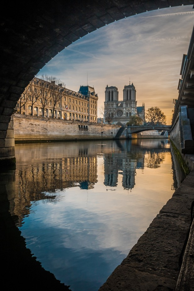 Sunrise On Notre-Dame by fleos - Clever Angles Photo Contest