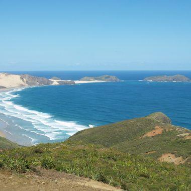 New Zealand Northland coast line
