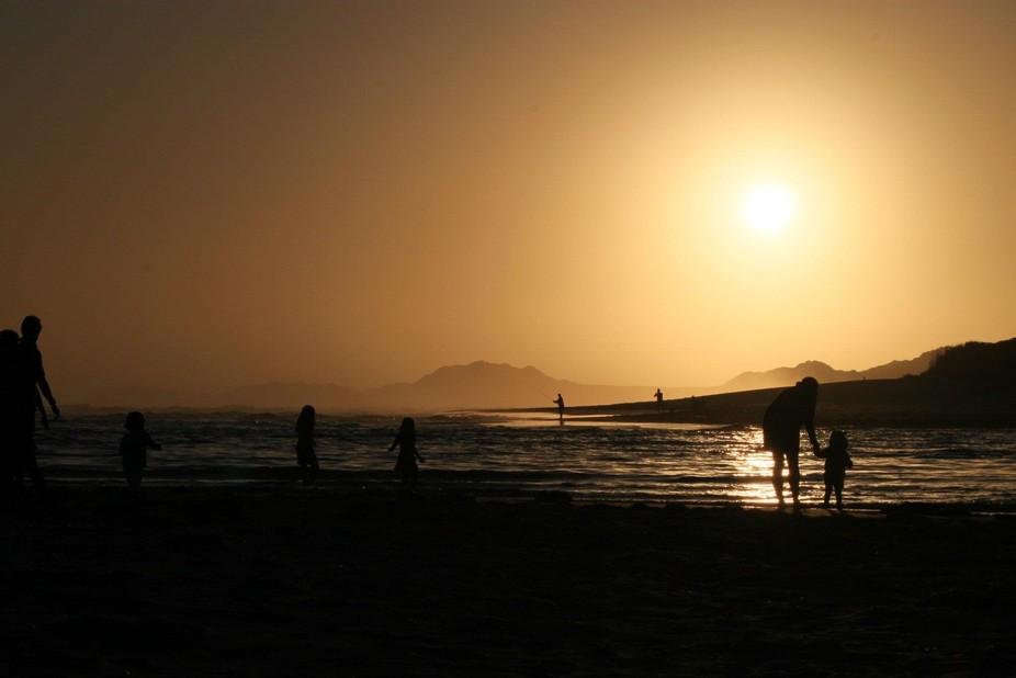 sunset at Kenton-on-Sea
