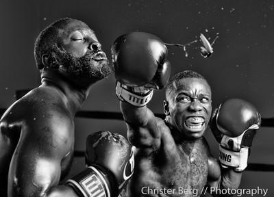 Pro boxer Dewayne Beamon throws a knockout punch