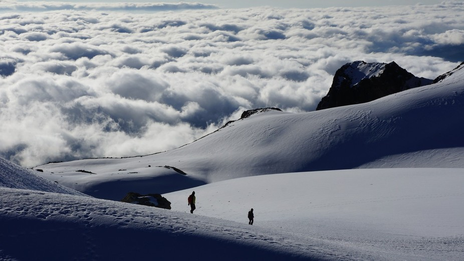 Over 5,000 meters above sea level is located this magnificent glacier, at the top of the  Iztacci...