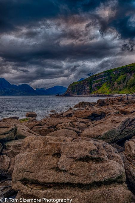 Looking north from the beach at  Engol, Isle of Skye, Scotland