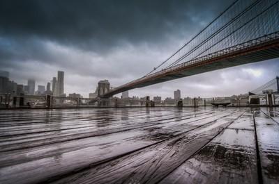 Rainy day in Brooklyn