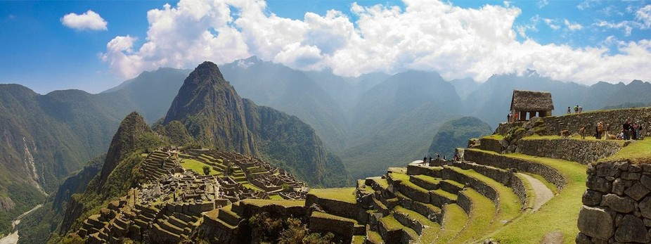 The ancient city of Machu Picchu, Peru.  I used the Panorama mode with my iPhone 6 for this photo...