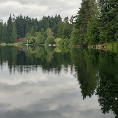 Eve on Fuller Lake, Vancouver Island - June 2016