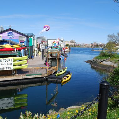 April on Fisherman's Wharf in Victoria, B.C. 2016