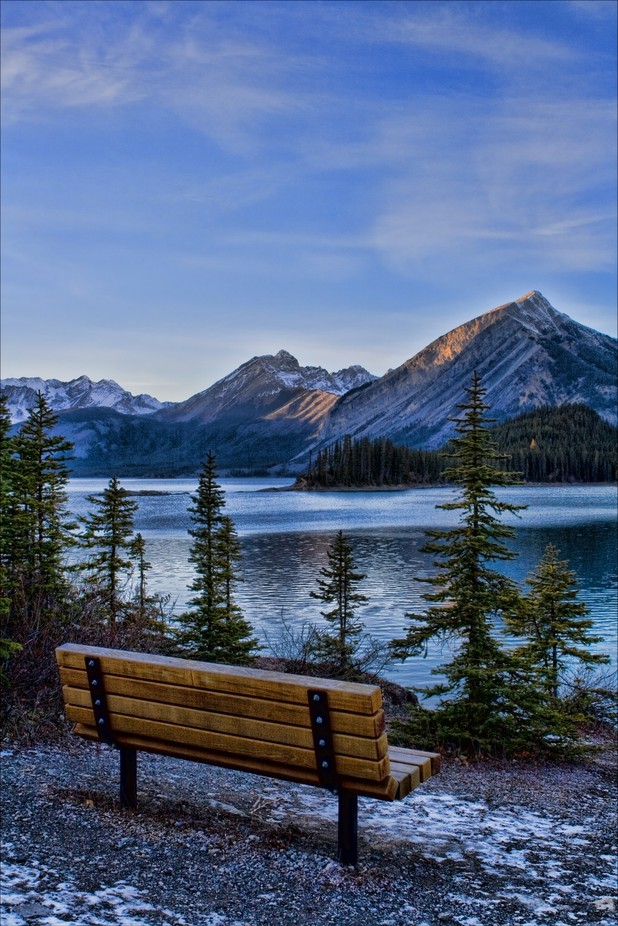 Bench Upper Kananaskis Lake by Mish55 - Zen Photo Contest