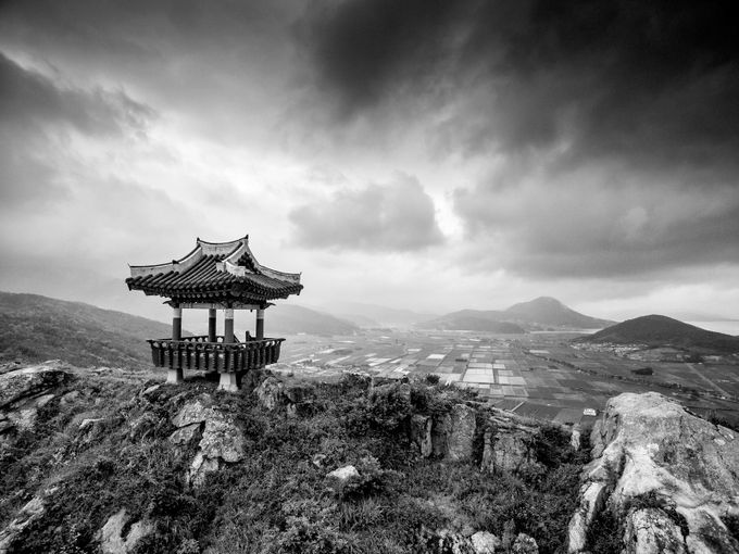 house of the gods by martinbennie - Black And White Mountain Peaks Photo Contest