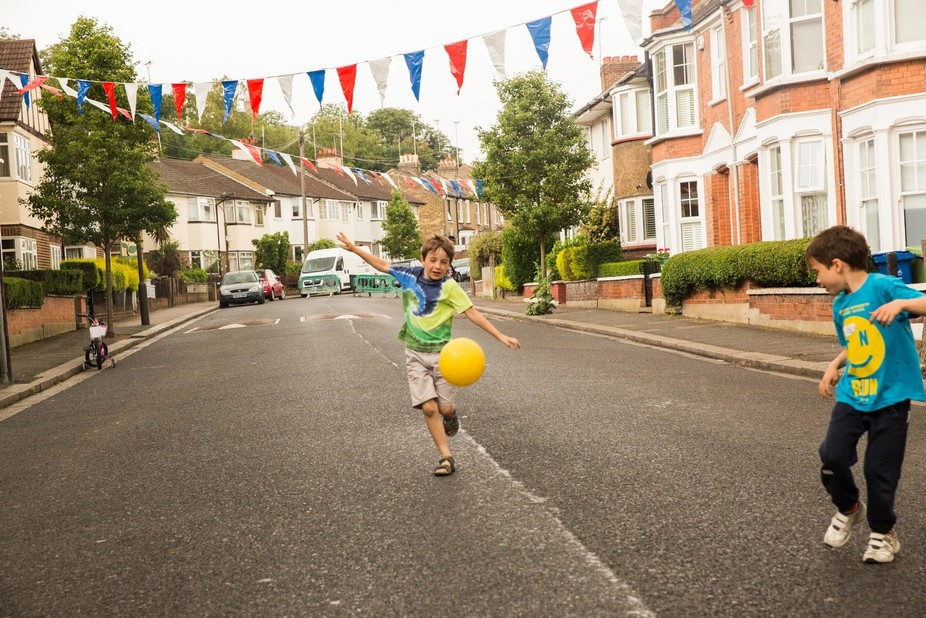Scene from a recent street party in South London to celebrate the Queen's birthday.