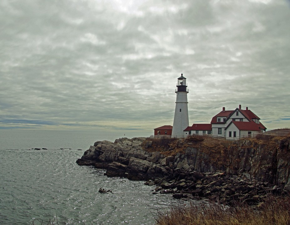 The natural filter of cloud cover at the Portland Head Lighthouse