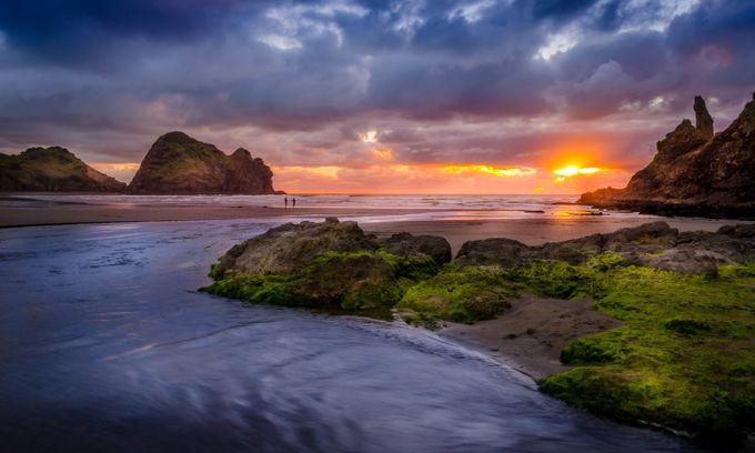 Piha Beach - Oliver Pykett by opykett53 - The Sun Behind Photo Contest