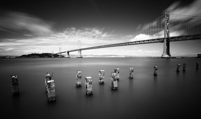 Bay Bridge by fotosbysal - A Black And White World Photo Contest