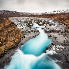 Bruarfoss on Iceland.