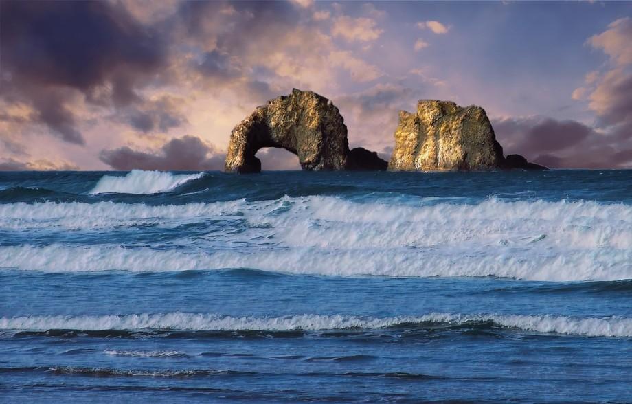 Rockaway Beach, Oregon. It was named after Rockaway Beach on Long Island in New York. This is a v...