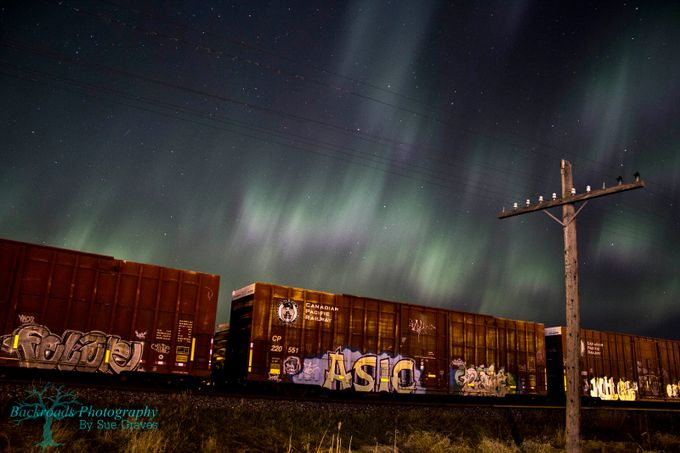 Graffiti, Trains and Auroras by suegraves - Letters And Words Photo Contest