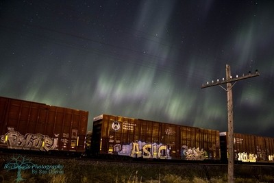 Graffiti, Trains and Auroras