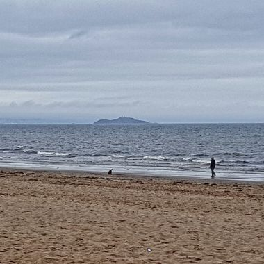 I took this photo when we stayed for one week in Portobello, Edinburgh, Scotland (2016). We rented a flat and it was situated next to the beach. We were walking along the beach when I took this photo.