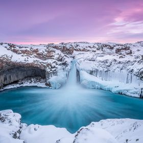 This is Aldeyjarfoss in the northern highlands in Iceland.