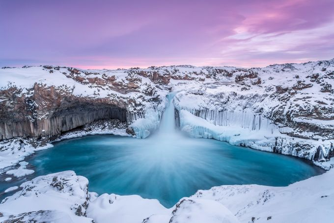 Aldeyjarfoss by Markus_van_Hauten - Winter Long Exposures Photo Contest