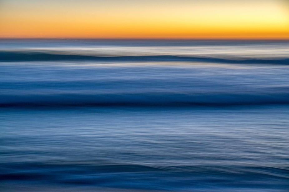 the indian ocean at sunset, taken off Scarborough, Western Australia