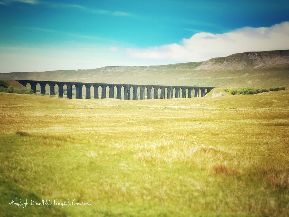 Driving through the Yorkshire dales and came across this view from the side of the road.the old v...