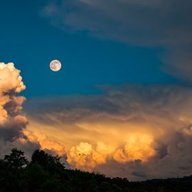 Moon Rise over West Virginia