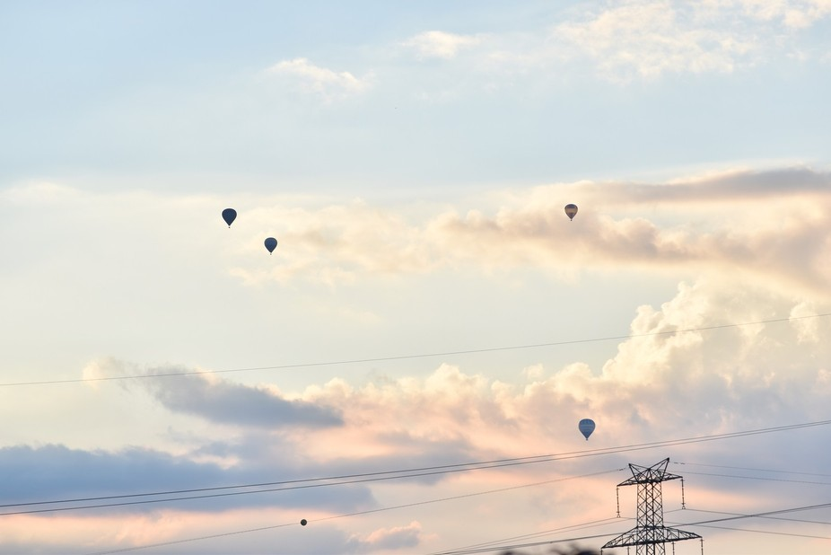 Sky and baloons