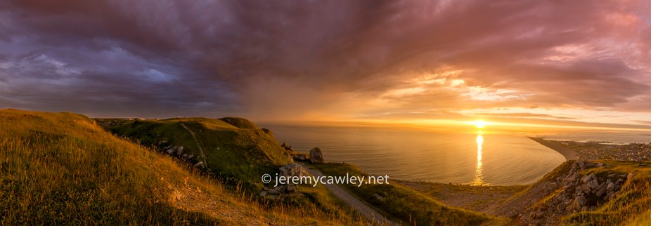 A beautiful sunset shot from Portland, Dorset.  Panorama again to capture the majesty of the area...