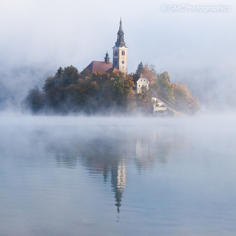 Lake Bled in the Mist by GMCPhotographics - Islands Photo Contest