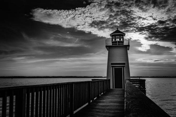 Lighthouse Landing B/W by patrickkulwicki - Fences Photo Contest