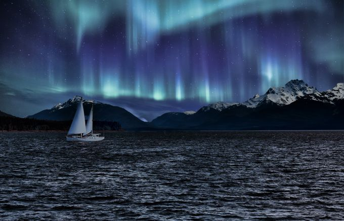 Sailboat Alaska Sky by apdempster - Creative Travels Photo Contest