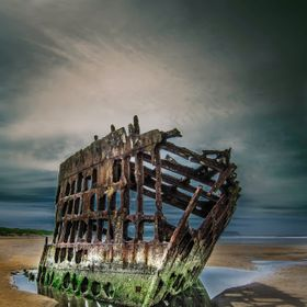 The Wreck of the Peter Iredale, Which Ran aground in 1908 off the Coast of Long Beach Peninsula, Oregon.
