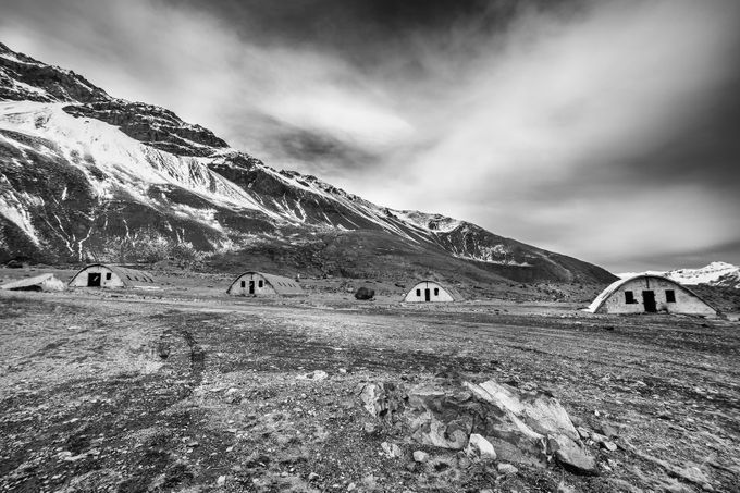 Abandoned 2 by pablobarros - Black And White Mountain Peaks Photo Contest