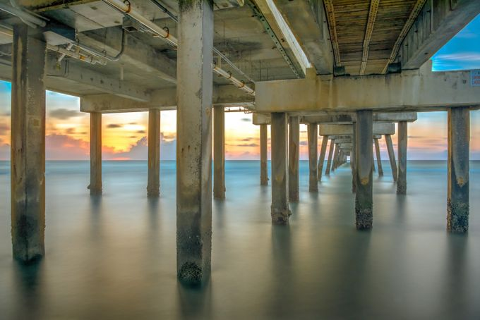 sunrise under the pier by PhilMcCabe - The View Under The Pier Photo Contest