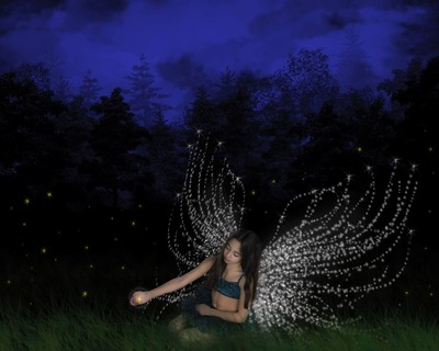 Fireflies and fairy