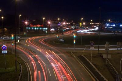 Night shot, Light trails.