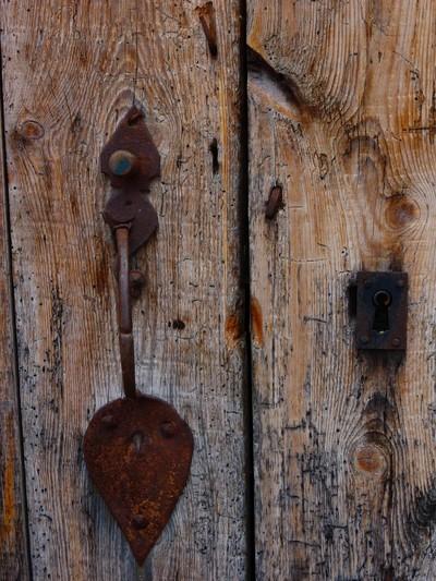 Old door opening