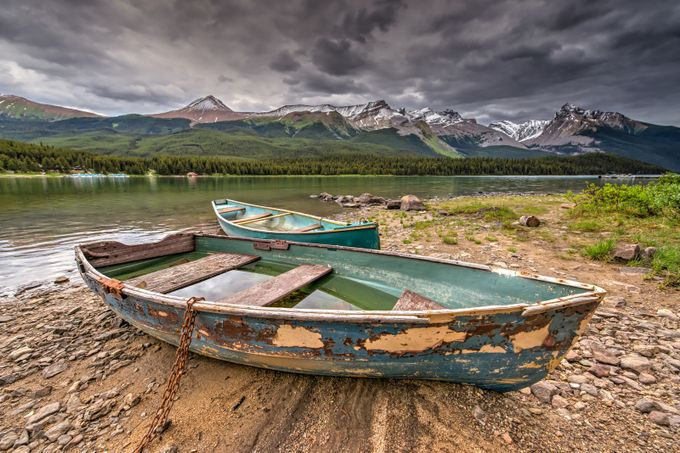 Maligne Ghosts by Wayne-Stadler-Photography - Ships And Boats Photo Contest