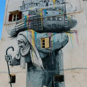 i love this Wall in Casablanca, Marokko ,