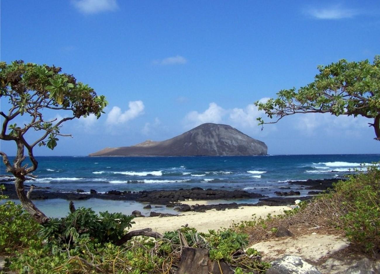 Rabbit island off the coast of Hawaii.