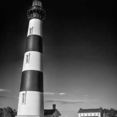 Bodie Island Light is part of the Cape Hatteras National Seashore within the National Park Service