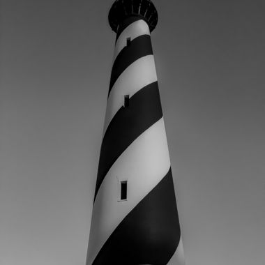 Cape Hatteras Lighthouse B&W